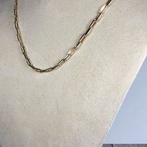"""30"""" 14k Gold over Sterling Silver Paperclip Chain"""